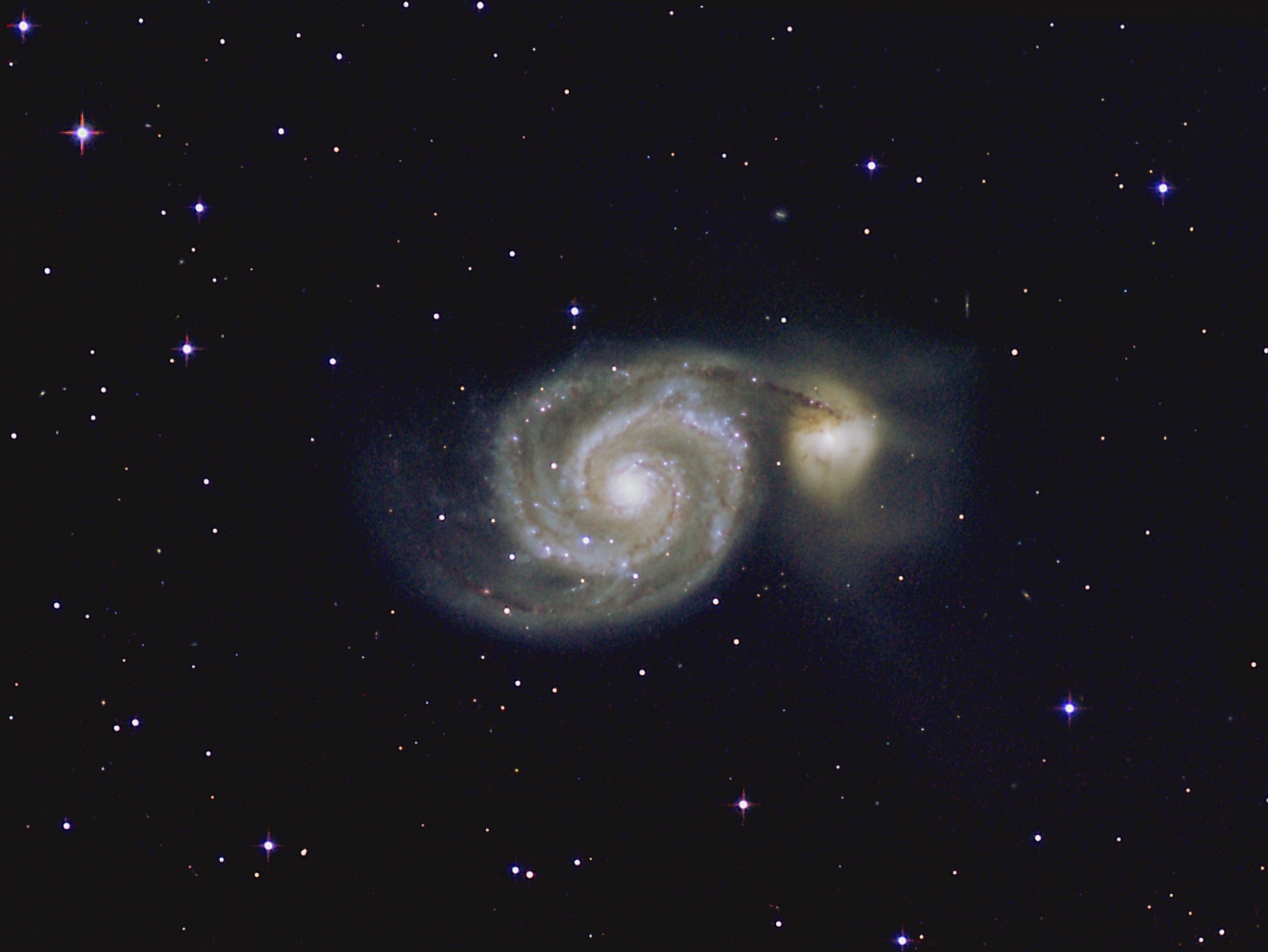 Whirlpool galaxy center